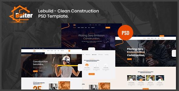 Bulter - Clean Construction PSD Template - Creative Photoshop