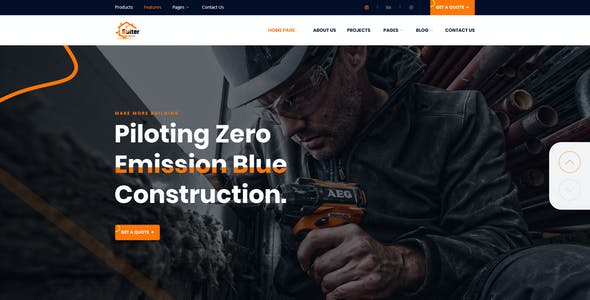 Bulter - Clean Construction PSD Template