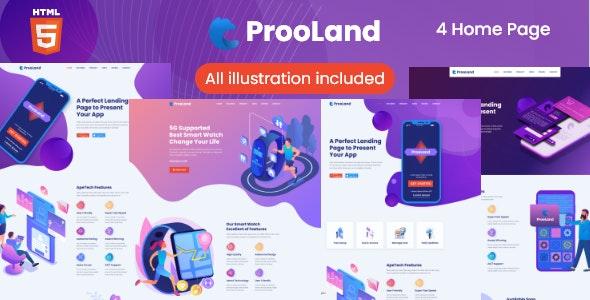 ProoLand – App Landing Page - Technology Site Templates