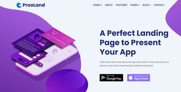 ProoLand – App Landing Page