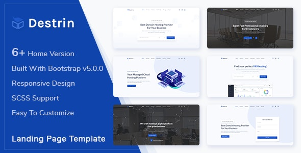 Destin - Bootstrap 5 Landing Page Template - Landing Pages Marketing