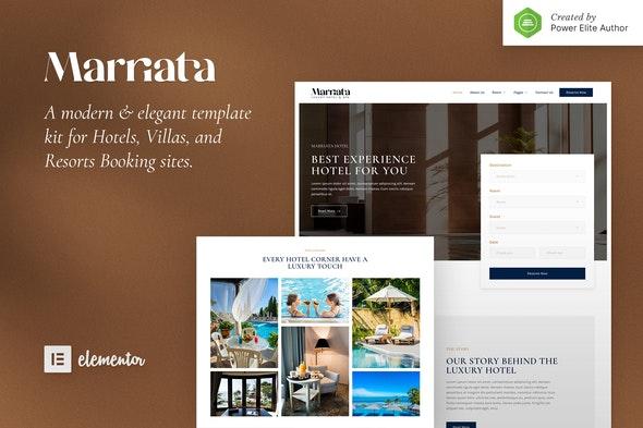 Marriata – Hotel & Resort Elementor Template Kit - Travel & Accomodation Elementor