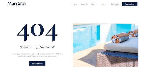 Marriata – Hotel & Resort Elementor Template Kit