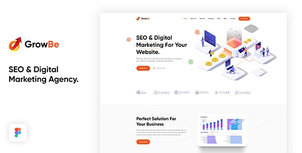GrowBe - SEO & Digital Marketing Agency Template - Marketing Corporate