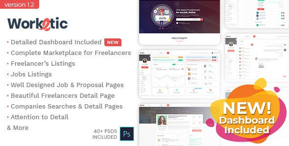 Worketic - Marketplace for Freelancers - Business Corporate