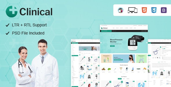 Clinical - Health Medical Prestashop Theme - Health & Beauty PrestaShop