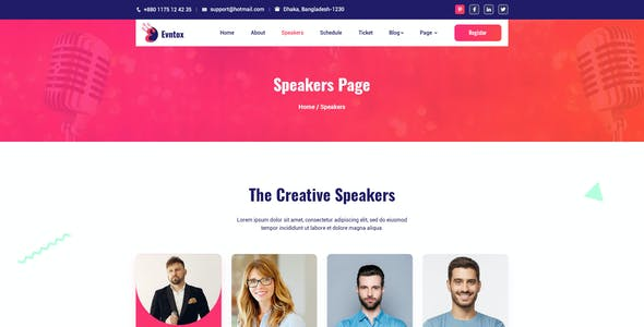 Evntox - Event & Conference PSD Template