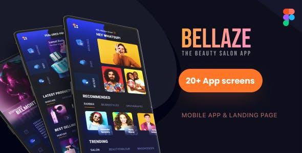 BELLAZE | Salon Service and Shop Mobile UI Template
