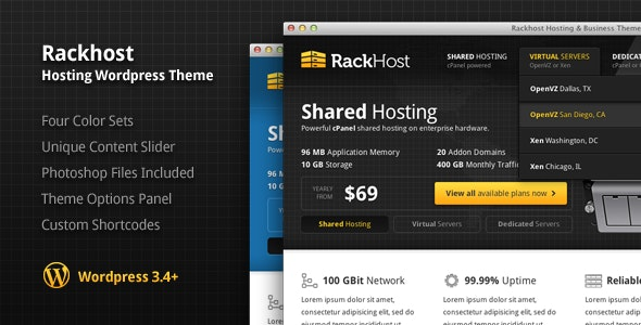 Rackhost Hosting WordPress Theme - Hosting Technology