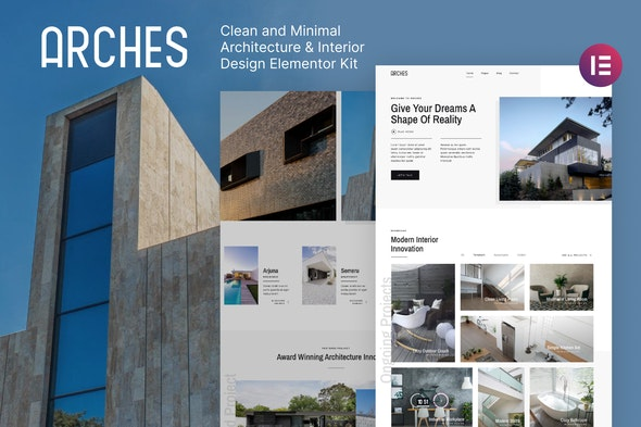 Arches – Minimal Architecture & Interior Design Elementor Template Kit - Real Estate & Construction Elementor