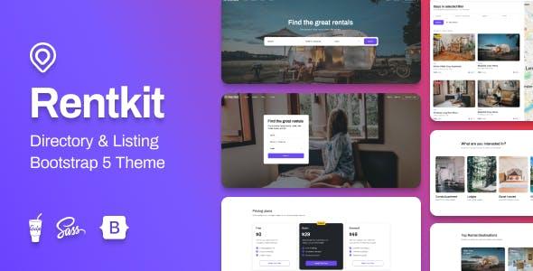 Rentkit - Directory & Listing Bootstrap 5 Theme