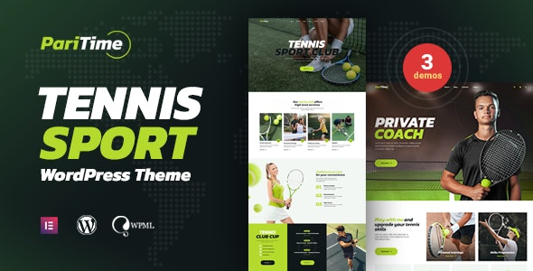 Paritime - Tennis Club WordPress Theme - Corporate WordPress