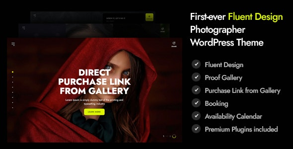 Marshmallow - Photographer WordPress Theme - Photography Creative