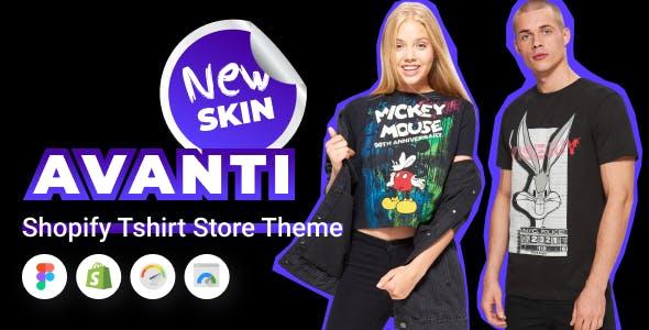 Avanti - Shopify Tshirt Store Theme