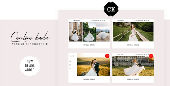 CKARLA - Minimal Wedding Photography Template