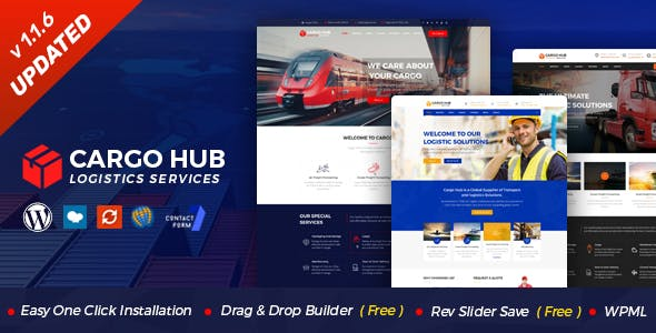 Cargo HUB - Transportation and Logistics WordPress Theme