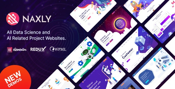 Naxly - Data Science & Analytics WordPress Theme - Technology WordPress