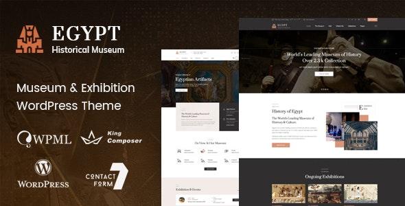 Egypt - Museum & Exhibition WordPress Theme - Nonprofit WordPress