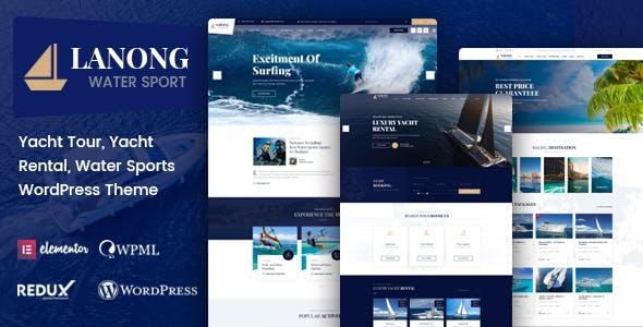 Lanong - Yacht Rental WordPress Theme