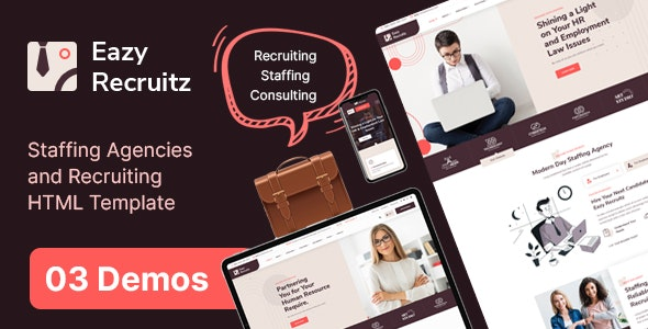 Easy Recruitz - Staffing Agencies and Job Seekers HTML Template - Business Corporate