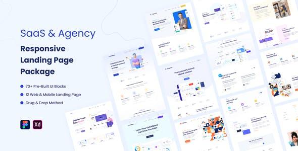 SaaS & Agency Responsive Landing Page Package