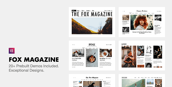 The Fox - Minimal WordPress Blog Magazine Theme - Personal Blog / Magazine