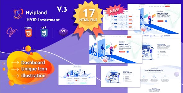 Hyipland - HYIP Investment HTML Template