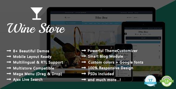 Wine Store - Vineyard Responsive PrestaShop 1.7 & 1.6 Theme