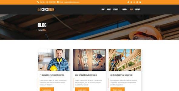 Construk - Construction Elementor Template Kit