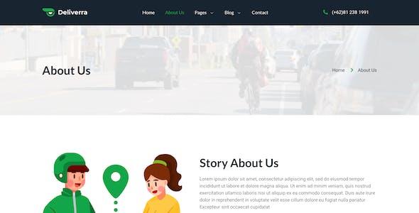 Deliverra – Food & Grocery Delivery App Elementor Template Kit