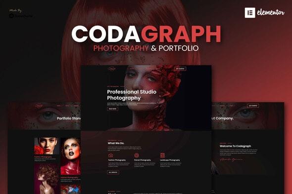 Codagraph - Photography & Portfolio Elementor Template Kit - Photography Elementor