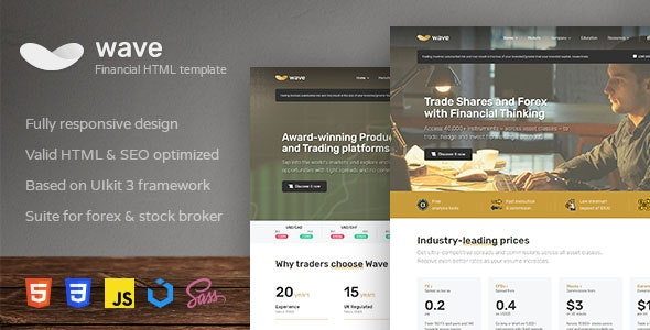 Wave - Finance and Investment HTML Template - Business Corporate