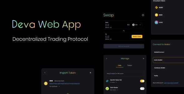 Deva Web Decentralized Trading Protocol - Figma UI Templates