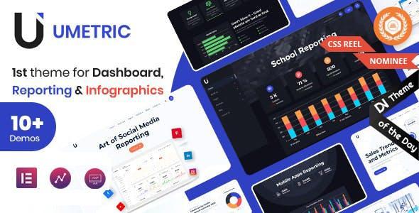 Umetric - WordPress Dashboard, Reporting and Infographic Theme