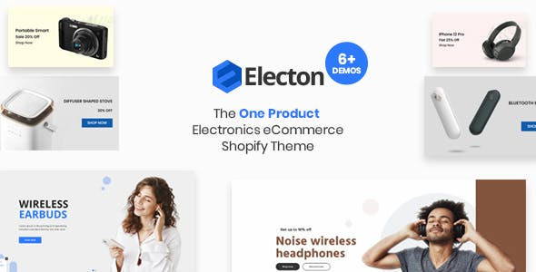 Electon- The Single Product, Electronics & Gadgets eCommerce Shopify Theme