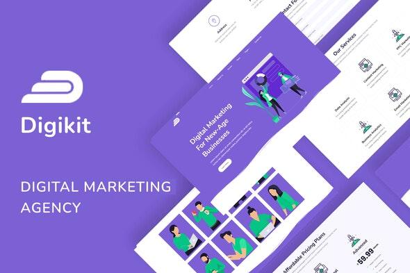 Digikit - Marketing Agency Template Kit - Creative & Design Elementor