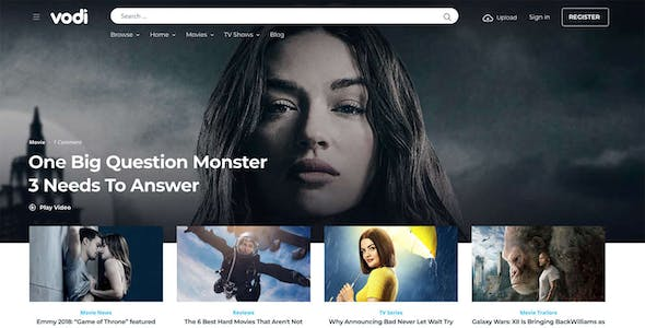 Vodi - Video WordPress Theme for Movies & TV Shows
