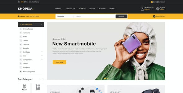 Shopixa - Premium Electronics OpenCart Store