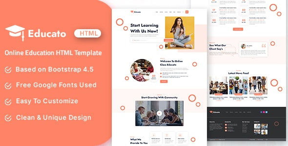 Educato - Online Education HTML Template - Business Corporate