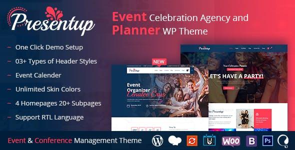 Presentup - Event Planner & Celebrations Management WordPress Theme