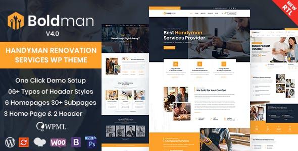 Boldman - Handyman Renovation Services WordPress Theme