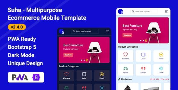 Suha v2.4.0 – Multipurpose Ecommerce Mobile HTML Template