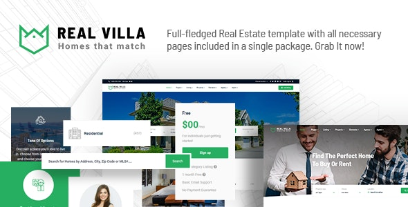 Real Villa - Real Estate HTML5 Template - Business Corporate