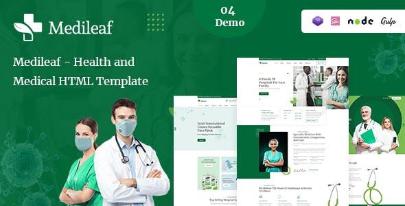 Medileaf - Health and Medical HTML Template