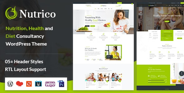Nutrico - Nutrition Health Services WordPress Theme - Health & Beauty Retail
