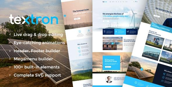 Textron - Industrial WordPress Theme + WooCommerce Shop - Business Corporate