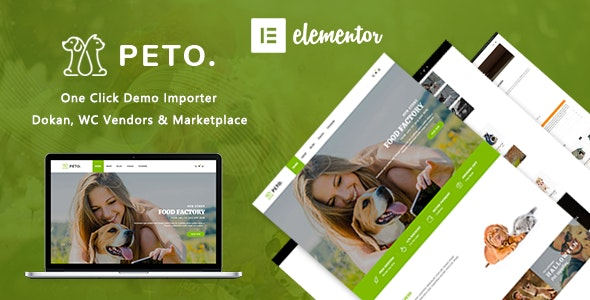 Peto | Animal and Pet Shop WooCommerce WordPress Theme - WooCommerce eCommerce