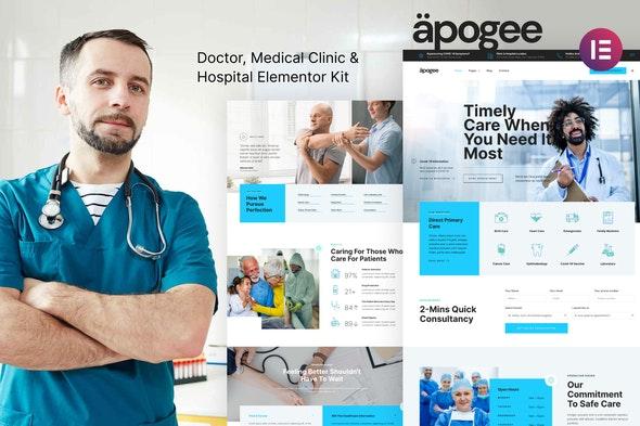 Apogee — Medical Clinic & Hospital Elementor Template Kit - Health & Medical Elementor