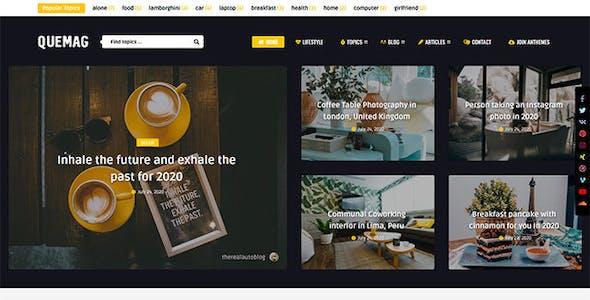 Quemag – Creative WordPress Theme for Bloggers