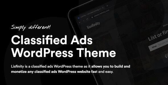 Lisfinity - Classified Ads WordPress Theme - Directory & Listings Corporate